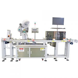 Sticker Paper Three Sides Jerry Can Labeling Machine