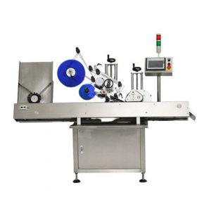 Flat Container Top Surface Labeling Machine
