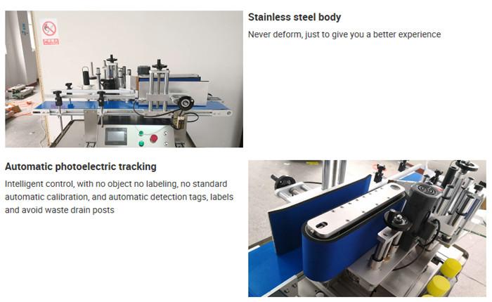 Automatische tafelbladfles etiketteermachine Details