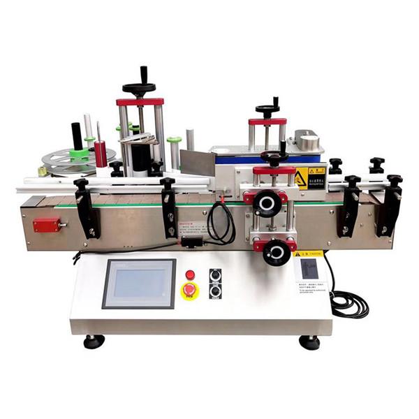 Automatische etiketteermachine voor flessen op tafel