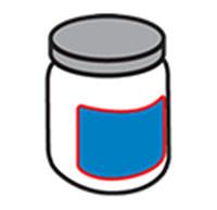 Etikettering van ronde flessen